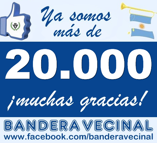 Bandera Vecinal: 20000 seguidores en Facebook
