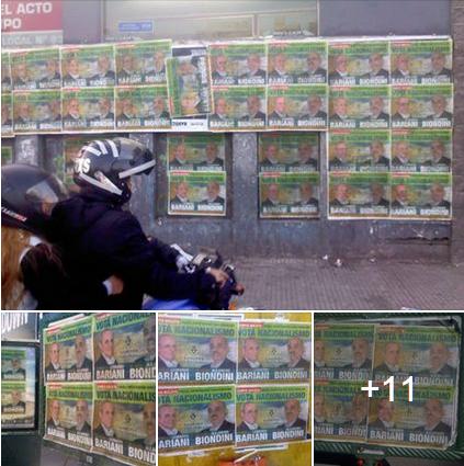 Afiches de Bandera Vecinal por toda la Ciudad