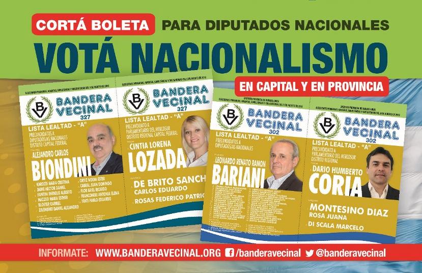 Bandera Vecinal: Propuestas electorales del Nacionalismo