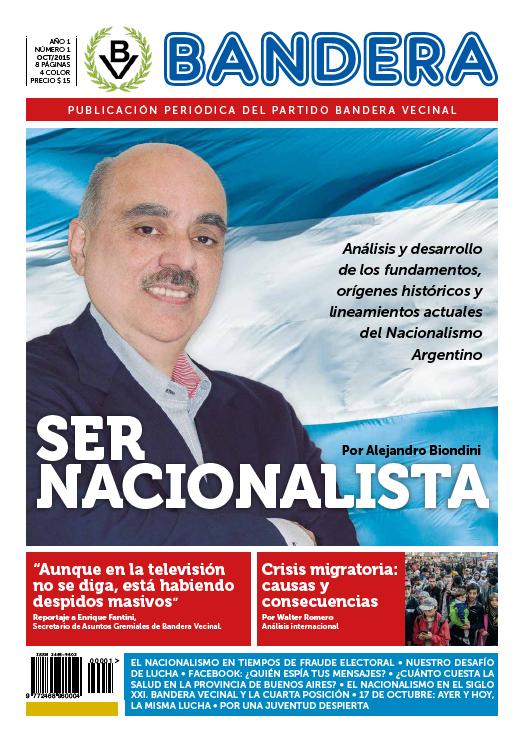 Periodico Bandera - Tapa del Nro. 1
