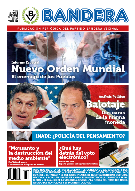 """Periódico """"Bandera"""" - Tapa del nro.2"""