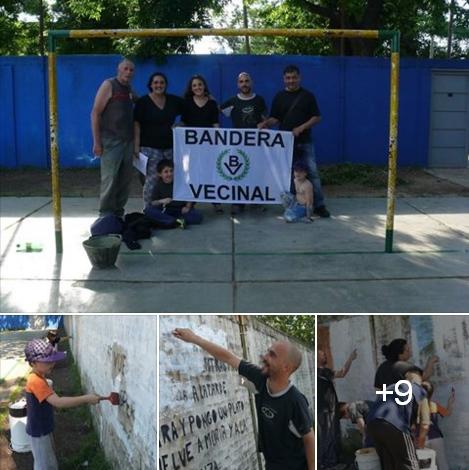 Compa�eros de Bandera Vecinal Mor�n colaboraron con dos escuelas