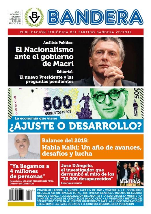 Tapa Periódico Bandera - Nro. 3 - Dic 2015 (clic para ampliar)