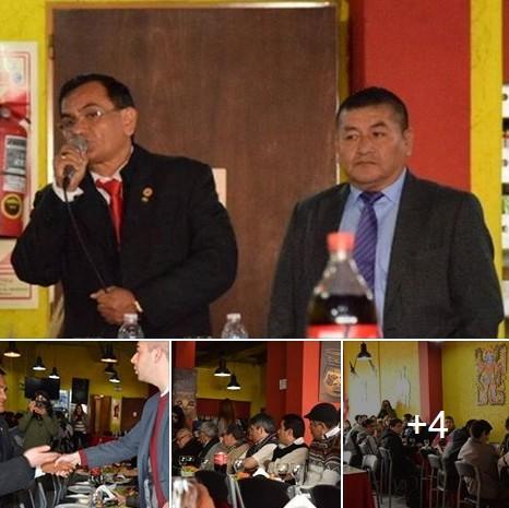 Periódico Bandera en la presentación del Dr. Quito, pre-candidato presidencial del Perú