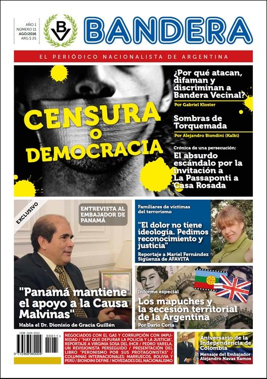 """Apareció Bandera Nº 11: """"Censura o Democracia"""""""