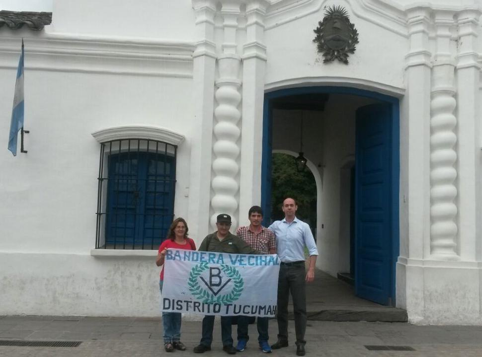 Compañeros Patricia Olarte, Gustavo Urquiza y Sergio Córdoba con Dr. Biondini (h)