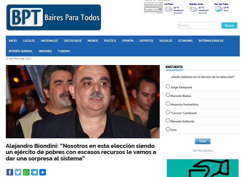 Ver entrevista a Biondini en el sitio web de Baires para Todos