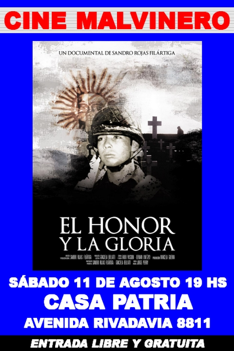Afiche El Honor y la Gloria